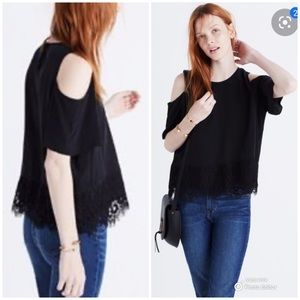 Madewell Silk Cold Shoulder Top